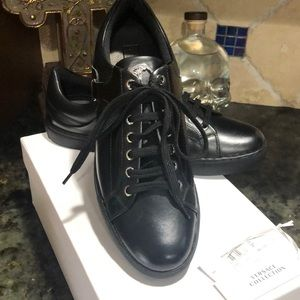 BLACK VERSACE SHOES